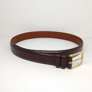 "Coach 32"" / 80cm Burgundy Red Cowhide Belt Leather"